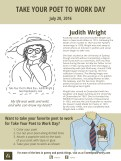 Take Your Poet to Work Day Printable - Judith Wright