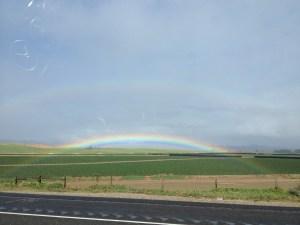 double rainbow in SOCAL