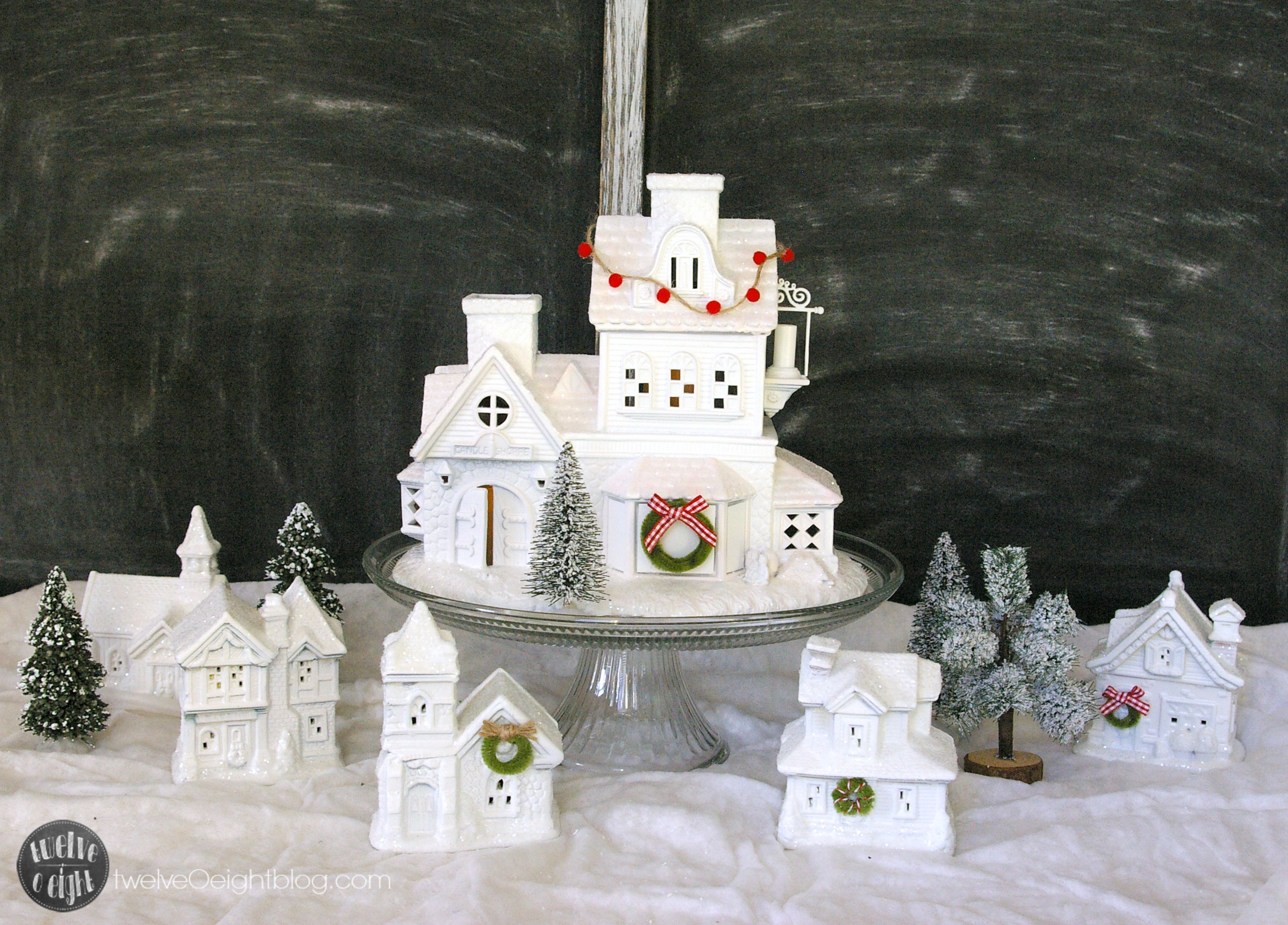 How To Make A Glitter House Village The Easy Way