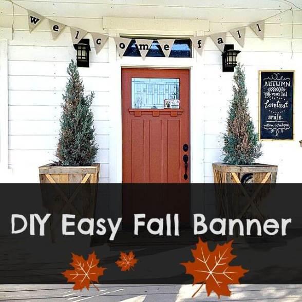 DIY Easy Fall Banner