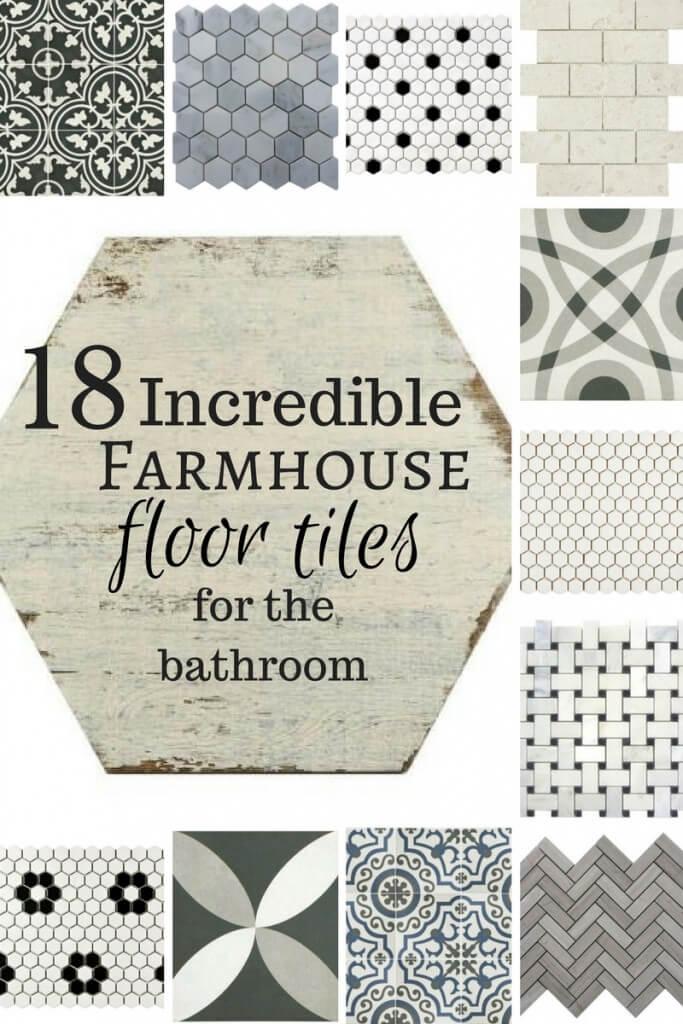 18 Incredible Farmhouse Bathroom Floor Tiles - Twelve On Main on Farmhouse Tile Bathroom Floor  id=80898