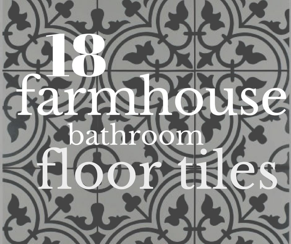 18 Incredible Farmhouse Bathroom Floor Tiles - Twelve On Main on Farmhouse Tile Bathroom Floor  id=14422