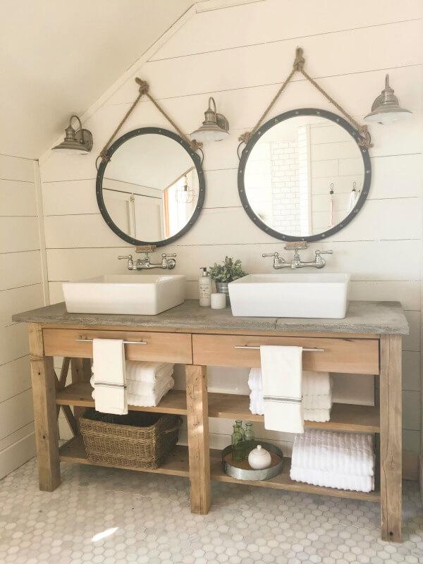 Farmhouse Master Bathroom   Final Reveal - Twelve On Main on Rustic Farmhouse Bathroom Tile  id=77465