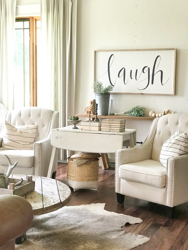 Farmhouse Living Room Ideas for the Summer - Twelve On Main on Farmhouse Living Room Curtain Ideas  id=82673