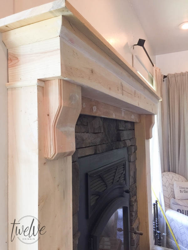 Stone Fireplace Surround Gets A Farmhouse Facelift Twelve On Main