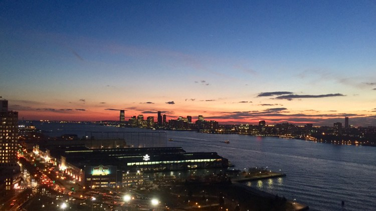 Sunset over Jersey City