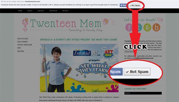 Help Unspam Twenteen Mom On Facebook!