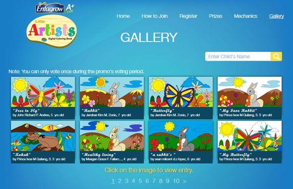Enfagrow A+ Kid's Little Artists Digital Coloring Book