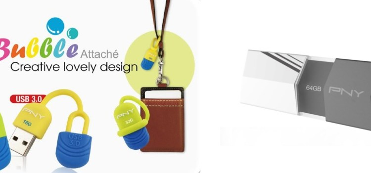 PNY Releases the Fashionable V1 & Cute Bubble Attaché Flash Drive