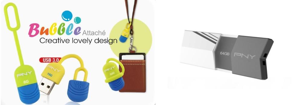 PNY Releases the Fashionable V1 & Cute Bubble Attaché Flash Drive