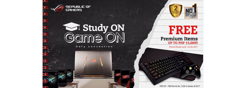 Study ON Game ON with ASUS Republic of Gamers