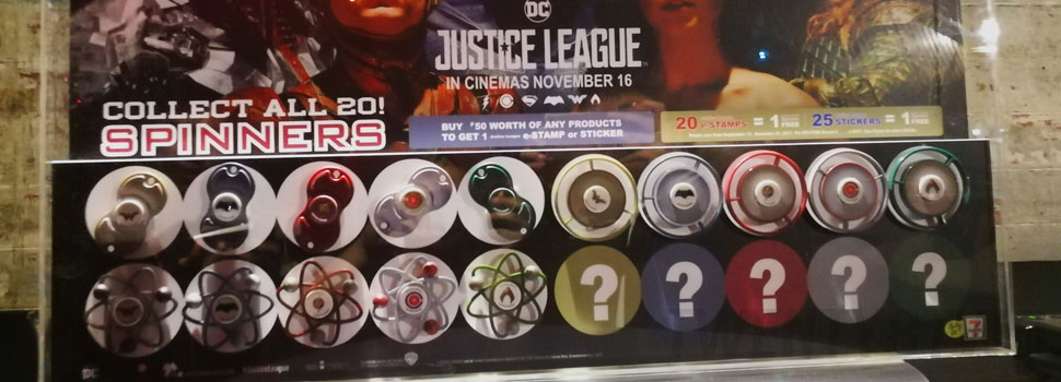 Special Edition Justice League Spinners Await 7-Eleven Customers And CLiQQ Users