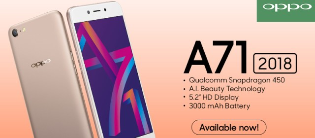 OPPO A71 2018 raises the bar in entry-level smartphone experience