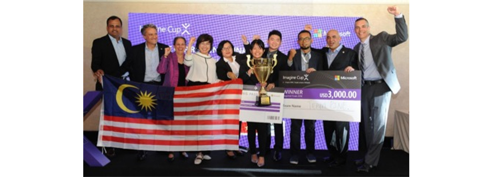 Malaysian students announced as winner of Microsoft Imagine Cup Asia Pacific Finals