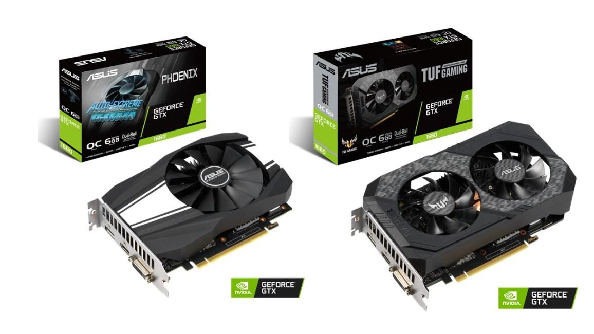 ASUS Announces TUF Gaming and Phoenix GeForce GTX 1660 GPUs