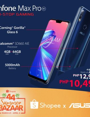 ASUS Philippines features ZenFone Max Pro M2 During Shopee 4.4