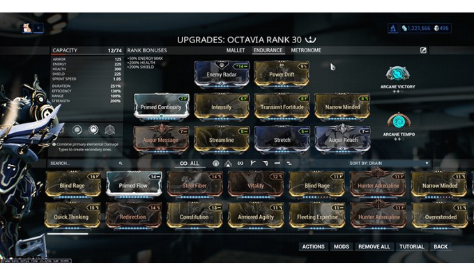 Octavia Warframe Builds