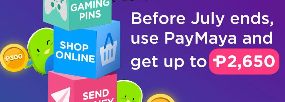 PayMaya Ends July With Huge Cashback Rewards