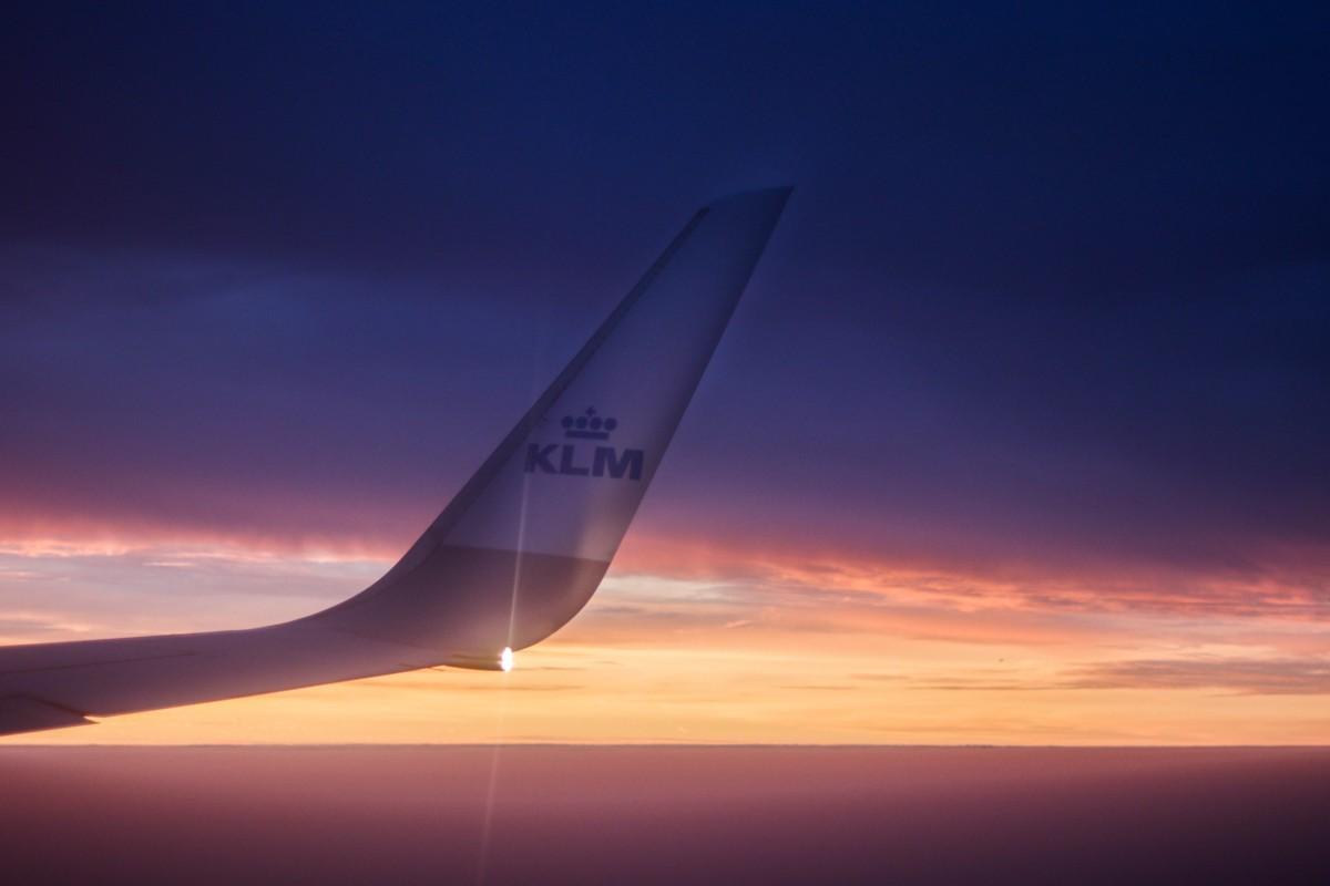 KLM Plane Sunrise