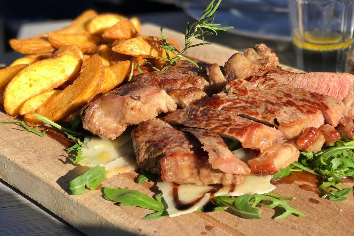 South Tyrol Skiing Alta Badia Lunch Steak