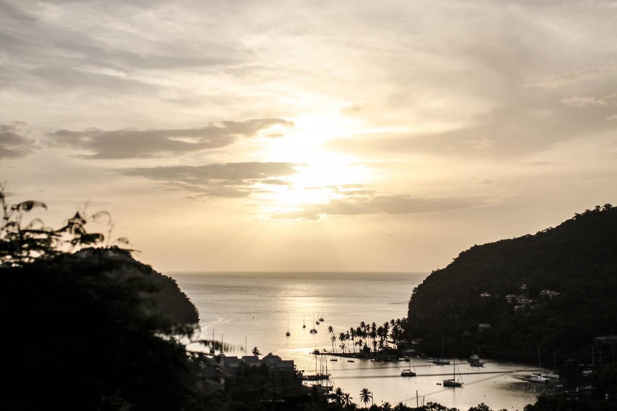 Capella Marigot Bay Sunset