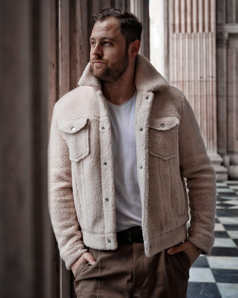 Teddy Coats and Khaki | Menswear Edit ft. All Saints Bevin Jacket & Tallis Cropped Trousers
