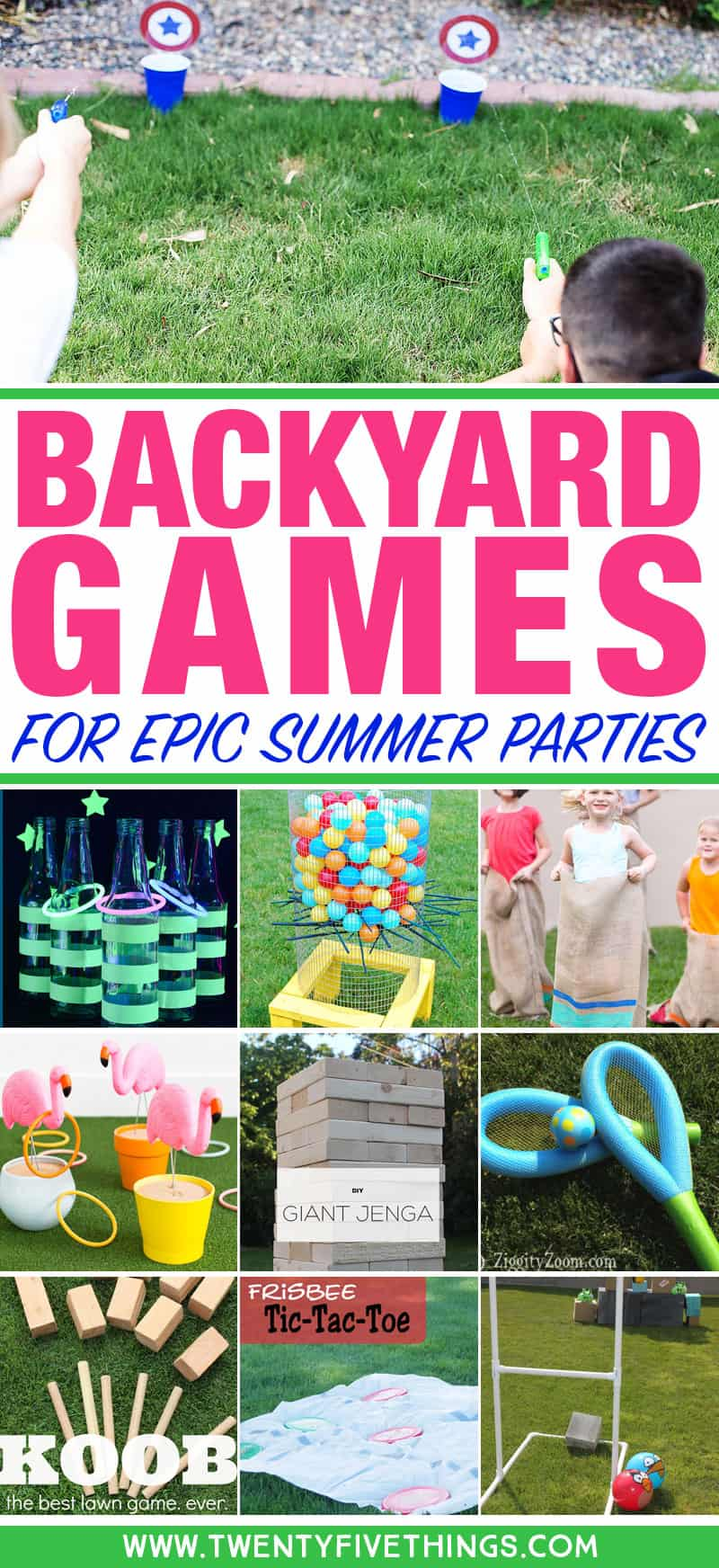 Best Backyard Party Games