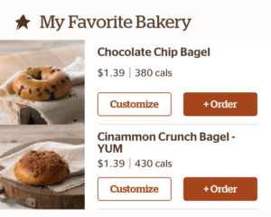 Favorite Panera Bagels