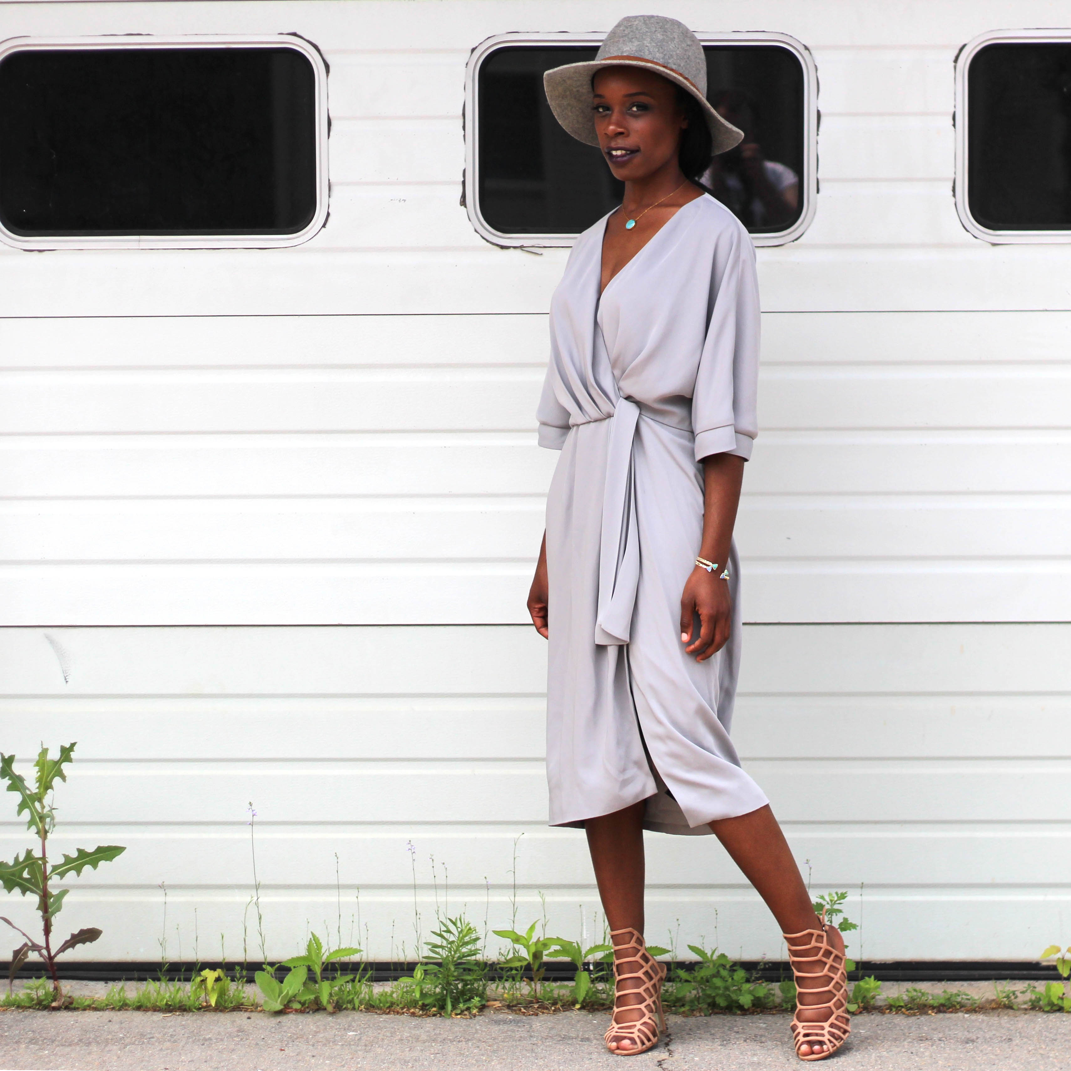 74e8f1e98b Dress: Rent the Runway | Shoes: Steve Madden | Hat: Target | Bracelets:  Kendra Scott (similar)