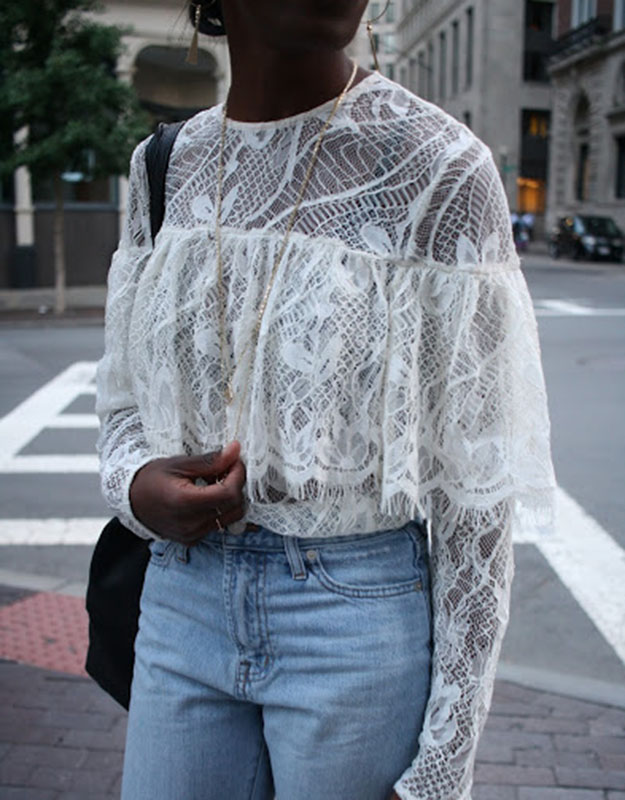 Who What Wear lace top from Target
