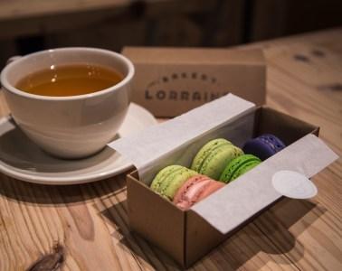 Bakery Loraine tea and macarons