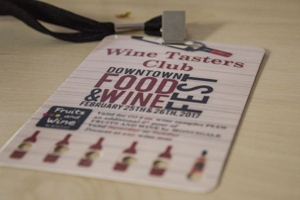 Downtown Orlando Food Wine Festival 2017 Lanyard