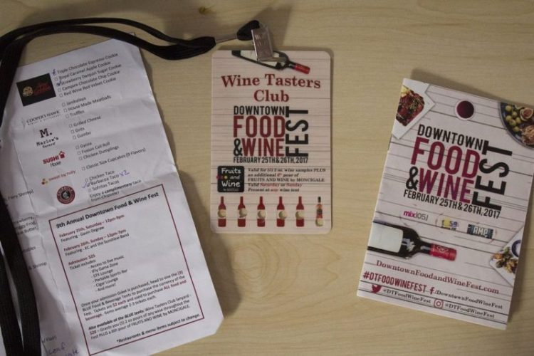 Downtown Orlando Food and Wine Fest 2017 Wine Tasting Lanyard