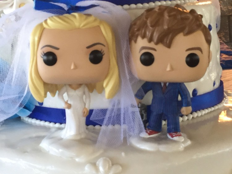 Doctor Who-Themed Wedding Custom Cake Toppers