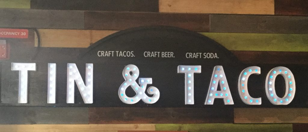 Tin and Taco Downtown Orlando Foodie Sign