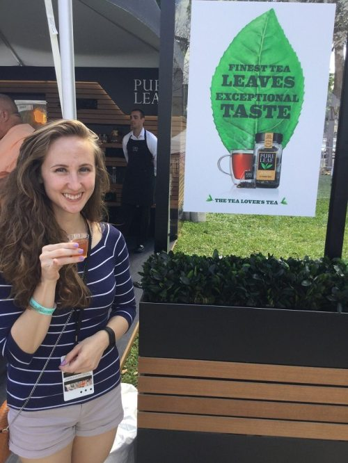 Downtown Orlando Food Wine Festival 2017 Pure Tea Samples