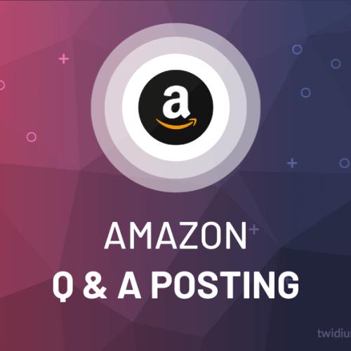 Buy Amazon Q & A Posting