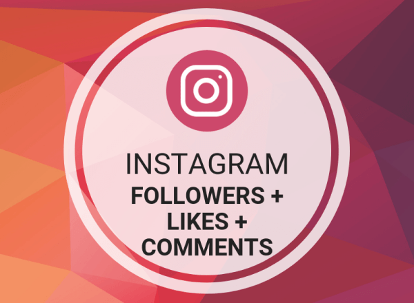 Instagram Followers + Likes + Comments
