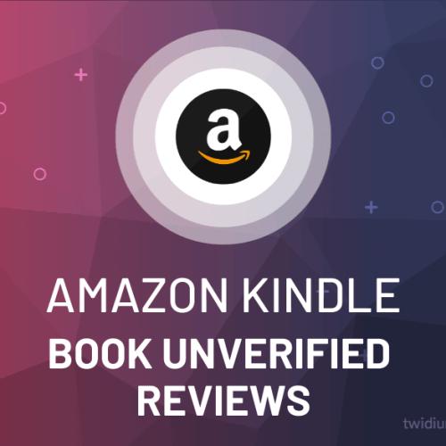 Buy Amazon Kindle Book Unverified Reviews