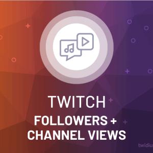 Buy Twitch Followers + Channel Views