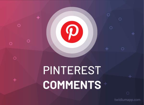 Buy Pinterest Comments