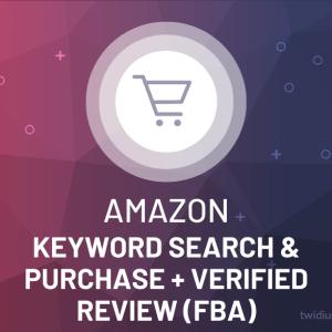 Buy Amazon Keyword Search & Purchase + Verified Review (FBA)