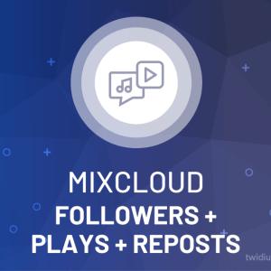 Buy Mixcloud Followers + Plays + Reposts