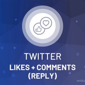 Buy Twitter Likes & Comments/Reply
