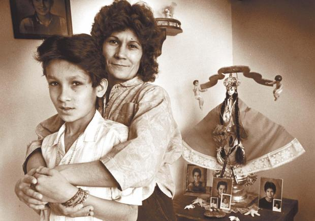 Eleven-year-old Alvaro Garza and his mother, Mary. (Forum News Service)