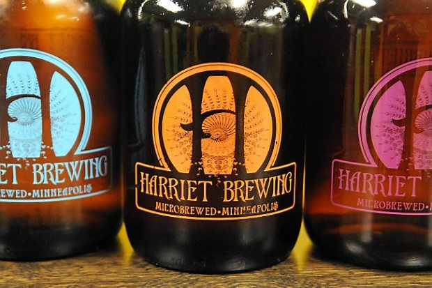 Bottles of beer from Harriet Brewing in Minneapolis on January 5, 2013. (Pioneer Press: Sherri LaRose-Chiglo)