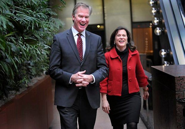 St. Paul Mayor Chris Coleman and Minneapolis Mayor Betsy Hodges in 2013. (Pioneer Press: Jean Pieri)