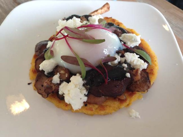 The Shiitake Cachapas at Hola Arepa in Minneapolis. (Pioneer Press: Jess Fleming)