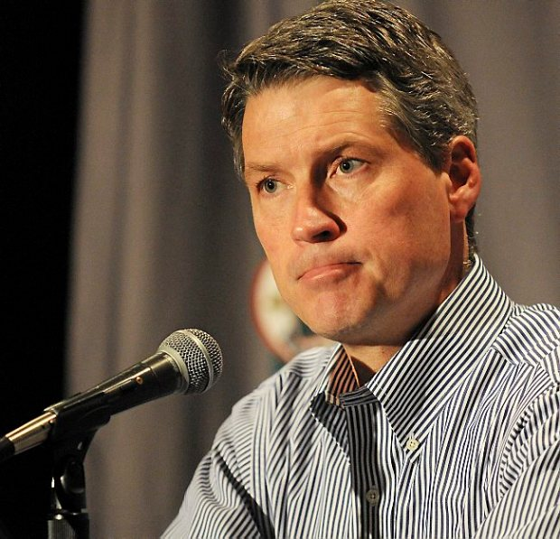 Minnesota Wild General Manager Chuck Fletcher during a May 2013 press conference at the Xcel Energy Center in St. Paul. (Pioneer Press: John Autey)
