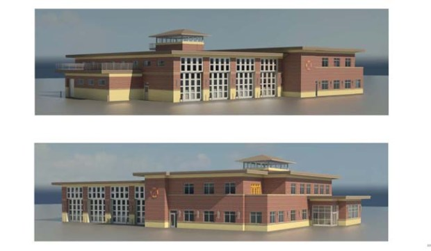 Early renderings of a proposed Inver Grove Heights fire station. (Courtesy of the city of Inver Grove Heights)